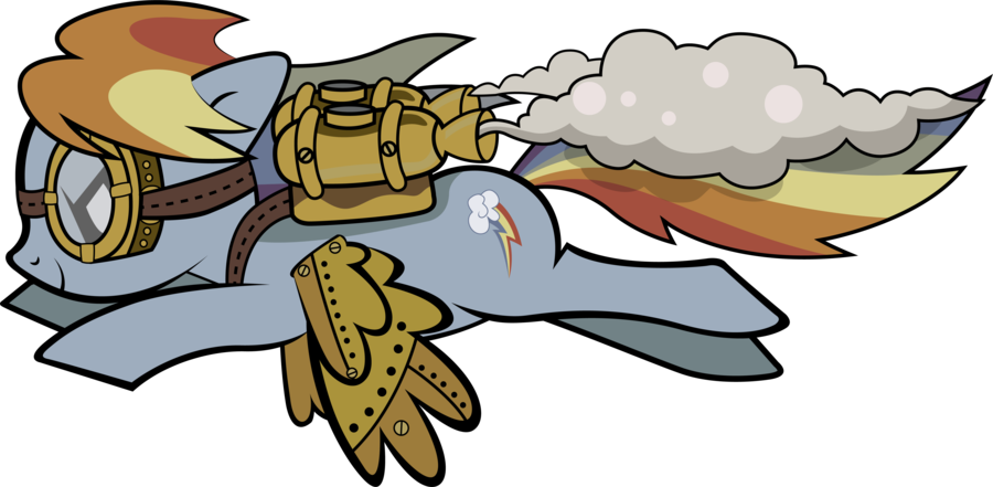 Rainbow dash by mowza. Goggles clipart steampunk