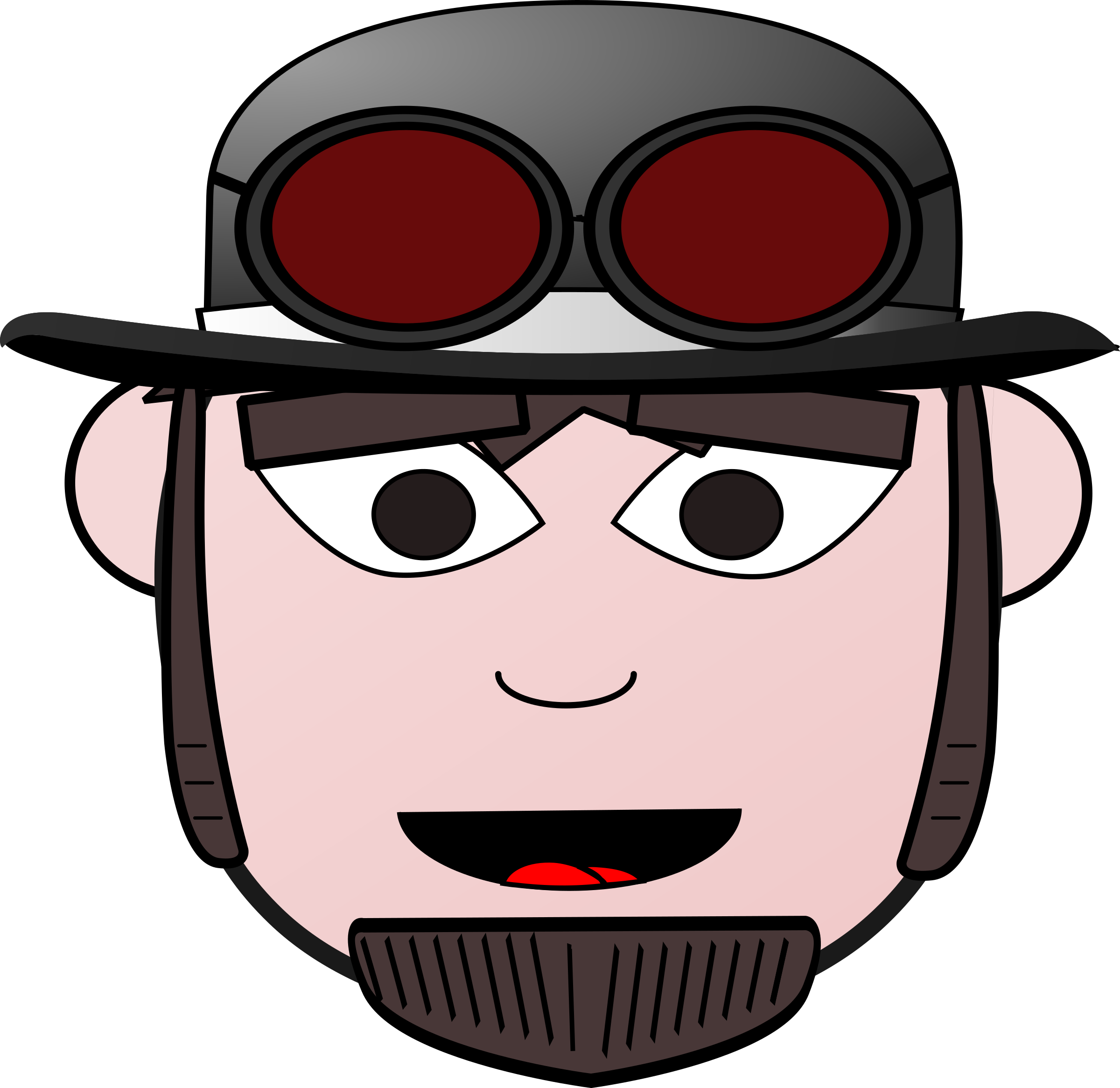 Steampunk clipart goggle. Man