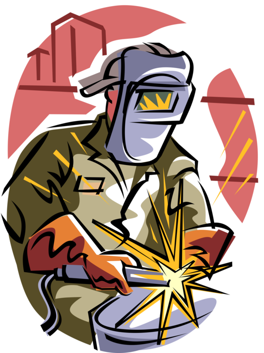 Welding clipart gambar. Metal with torch and