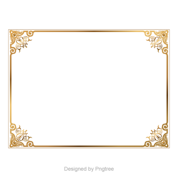 Golden images vectors and. Gold border png