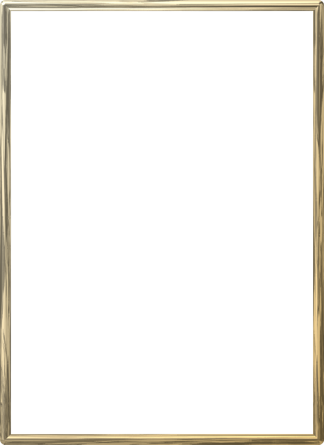 Frame photo mart. Gold border png