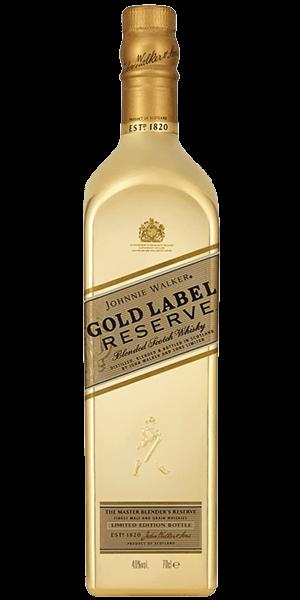 Johnnie walker label reserve. Gold bottle png