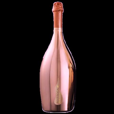 Bottega rose spumante brut. Gold bottle png