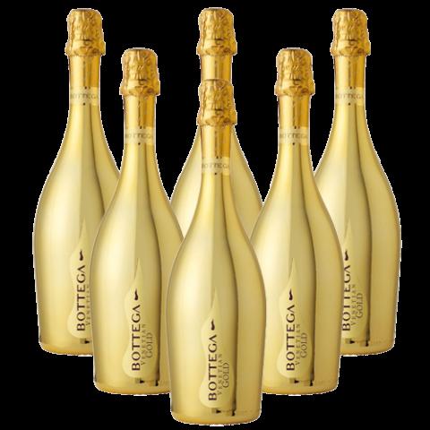 Gold bottle png. Bottega prosecco doc brut