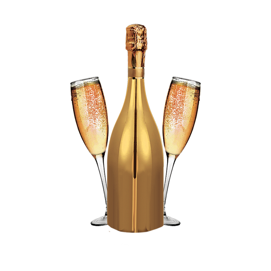 Gold champagne bottle png. Wine alcoholic drink glass