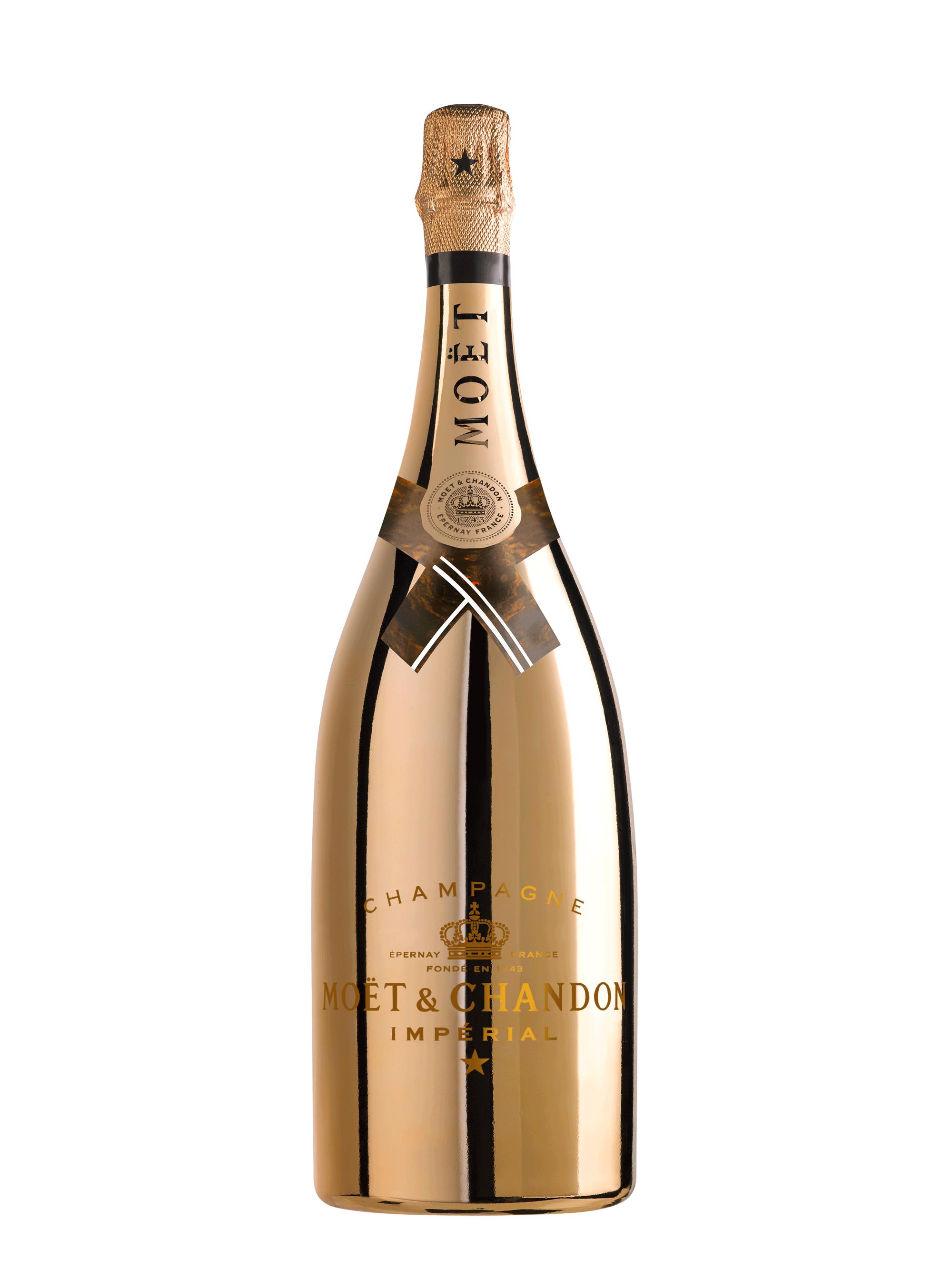 Mo t chandon brut. Gold champagne bottle png