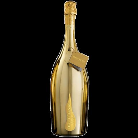 Bottega prosecco doc brut. Gold champagne bottle png