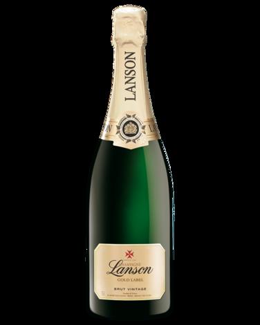 Gold champagne bottle png. Buy lanson label vintage