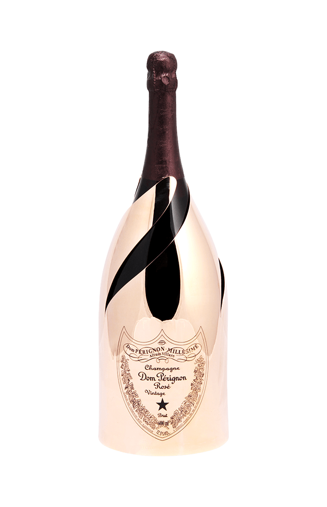 Dom p rignon ros. Gold champagne bottle png
