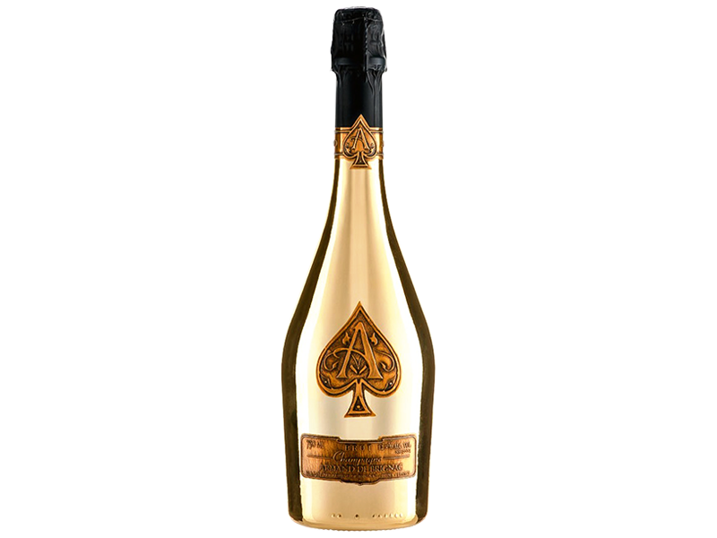 ace of spades. Gold champagne bottle png