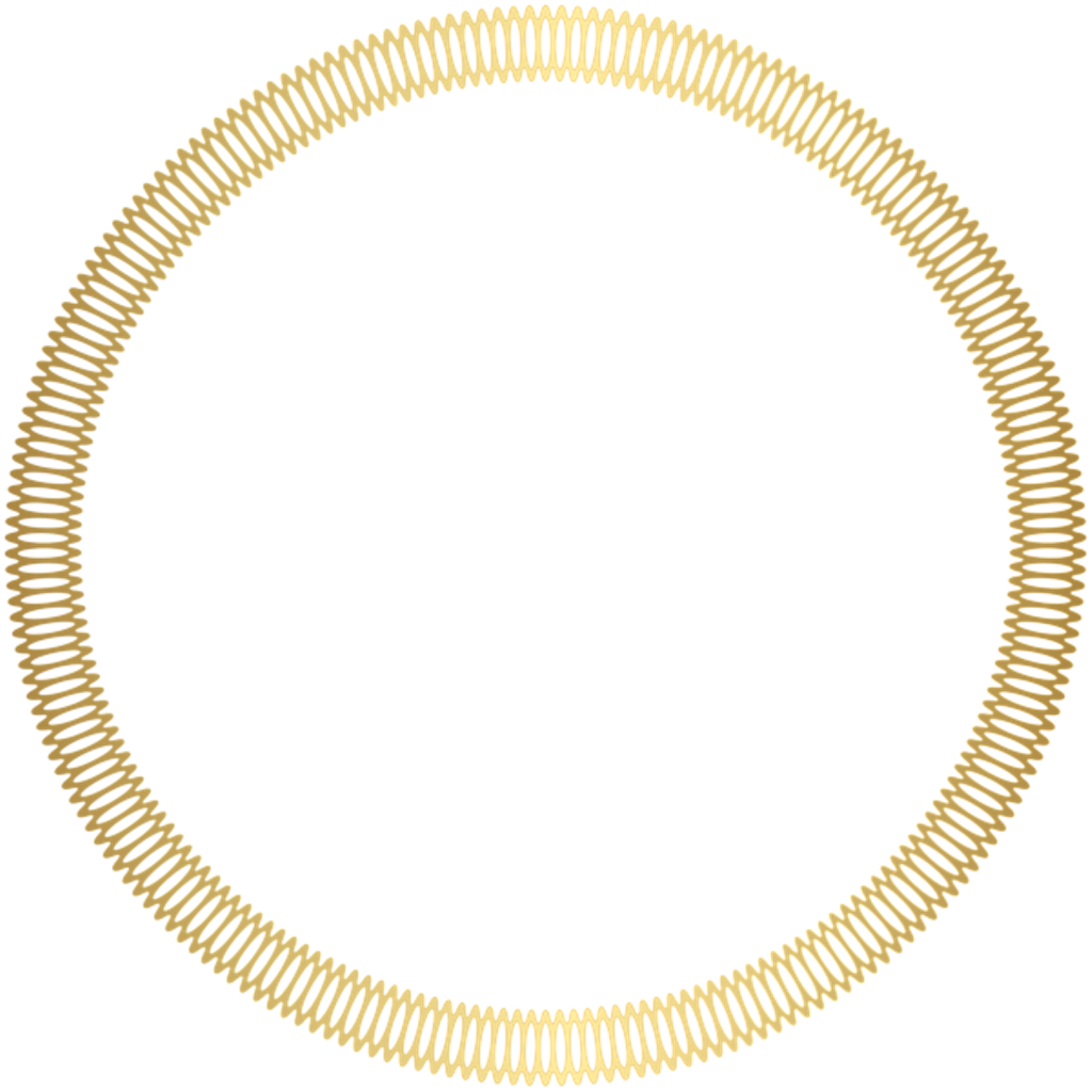 Golden border circleframe decoration. Gold circle frame png