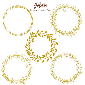 Golden images vectors and. Gold circle frame png