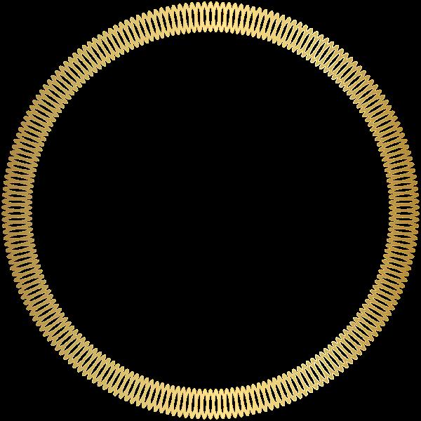Golden border circleframe decoration. Gold circle frame png