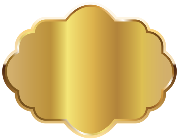 Gold template clipart image. Label frame png