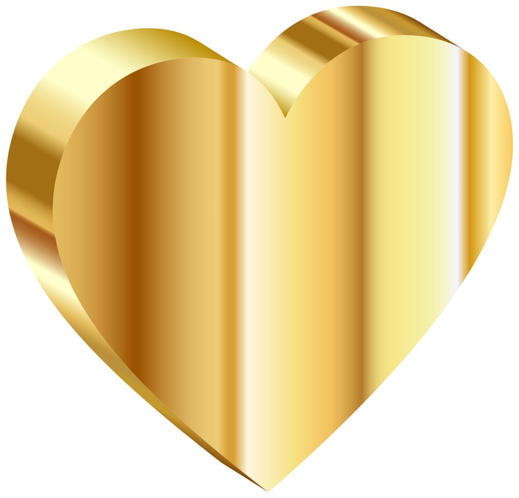 d heart of. Gold clipart