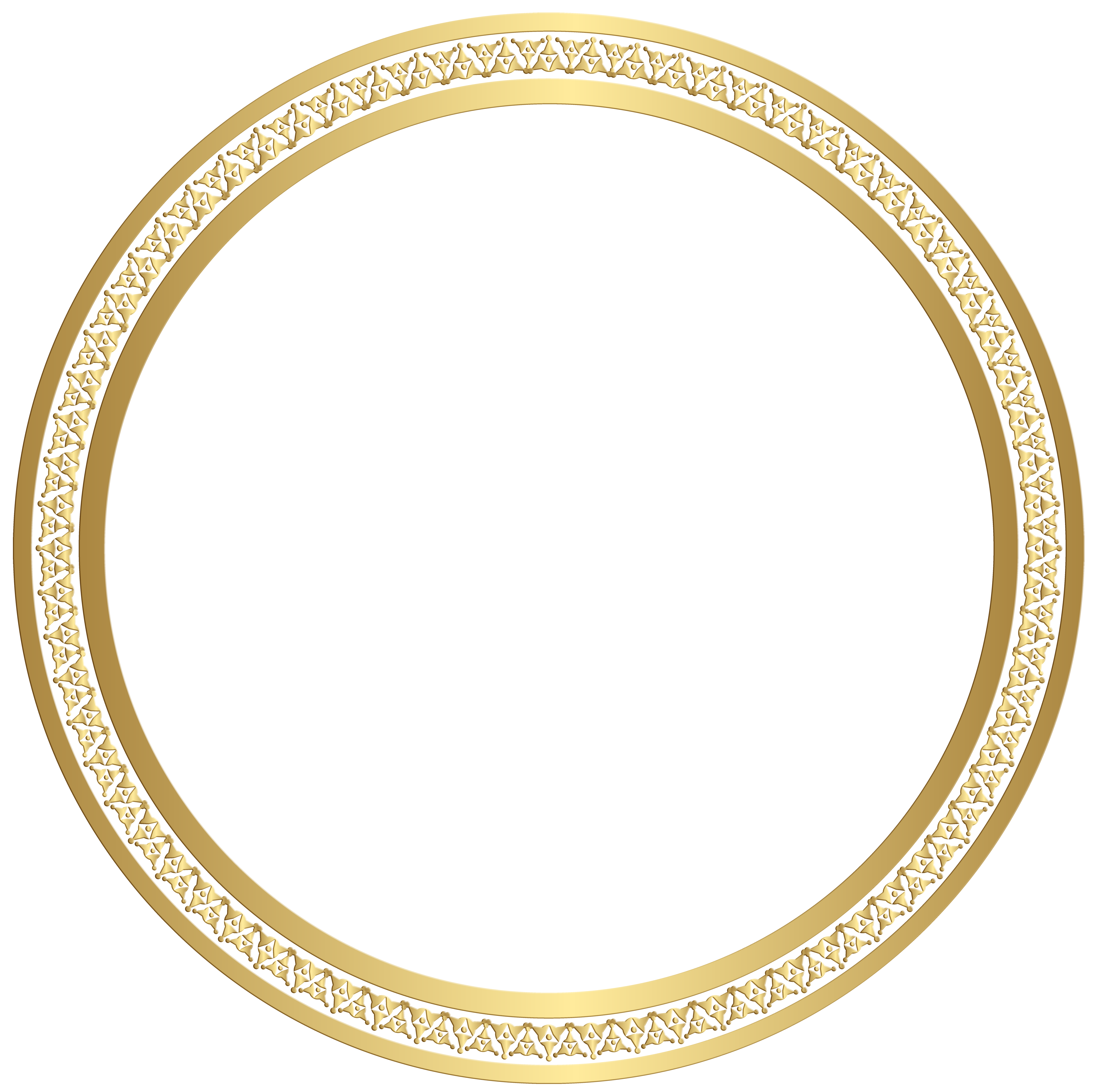 Frame gold clip art. Round border png