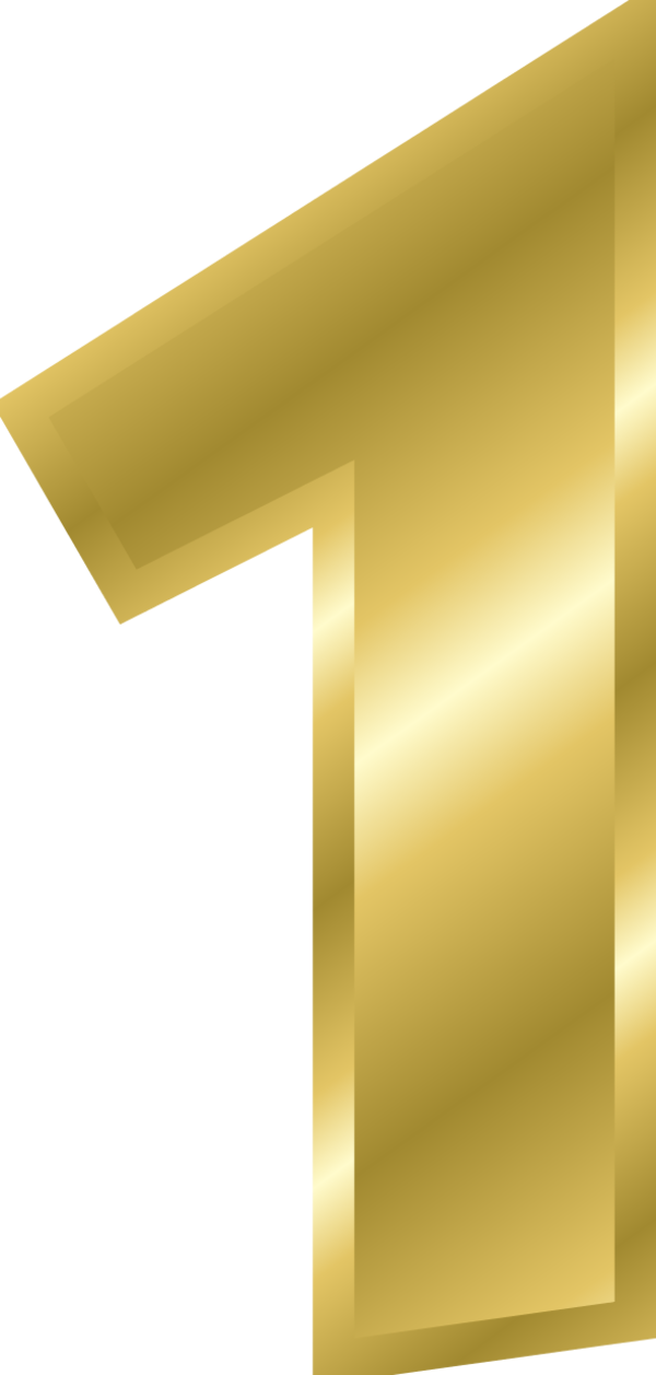 Gold clip art bay. Number 1 clipart large