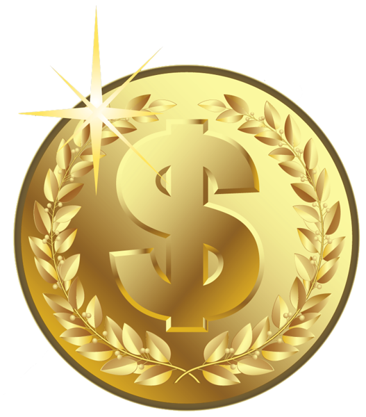 Gold clipart coin. Gallery free pictures