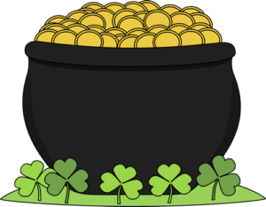 Gold clipart cute. Pot of chatsworth hills