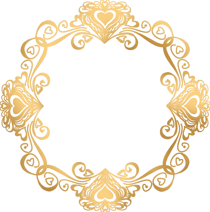 Round gold frame png. New calligraphic page divider