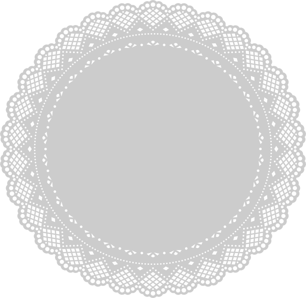 White clipart doily. Lace free loft wallpapers