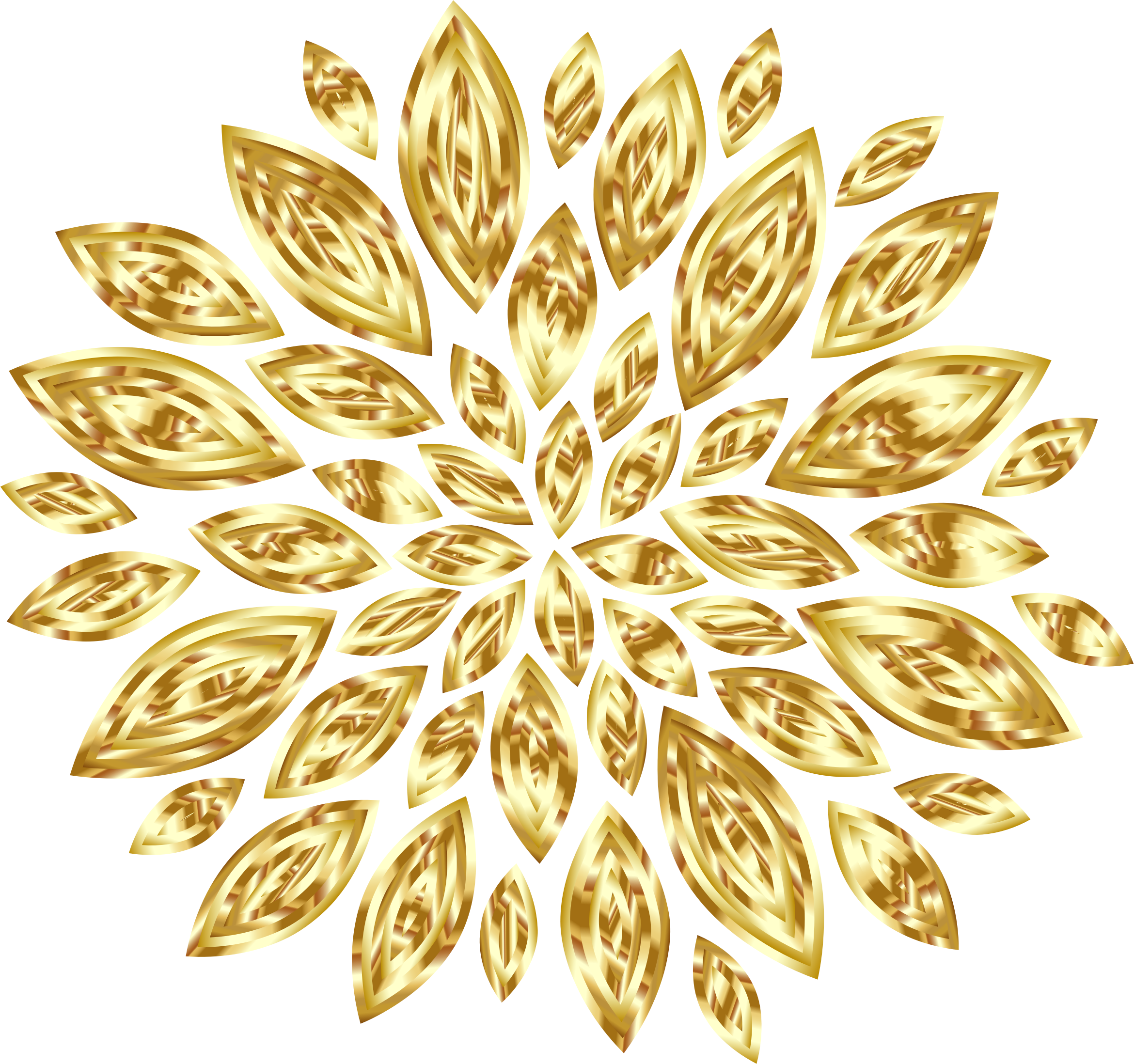 Gold flower png. Clipart petals variation big