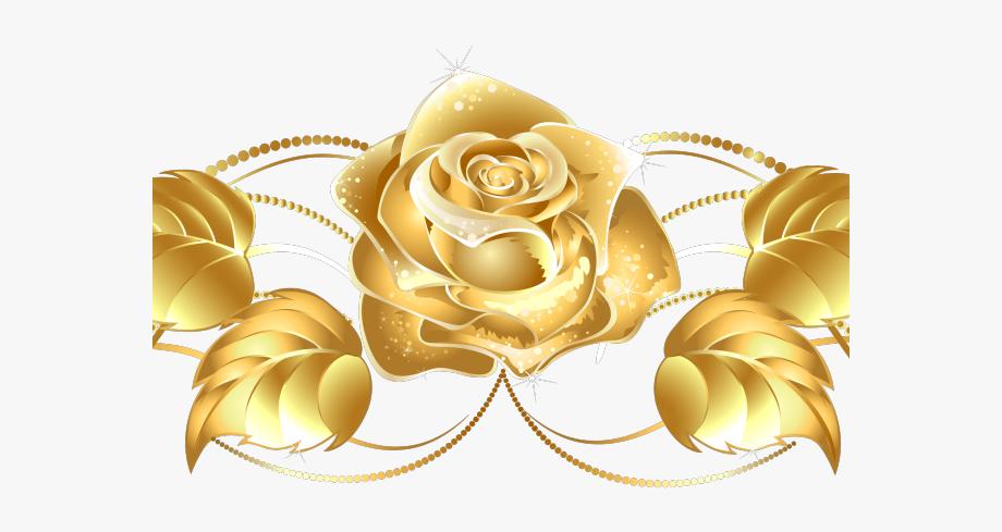 Gold clipart flower, Gold flower Transparent FREE for ... (920 x 489 Pixel)