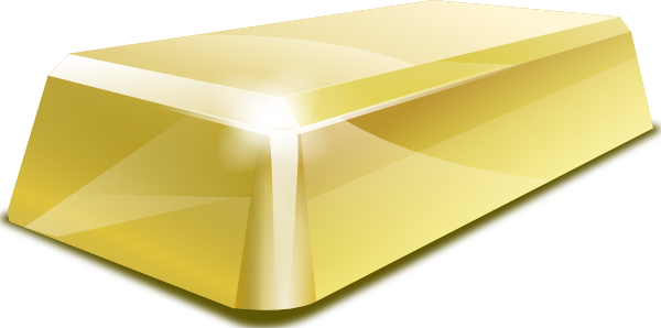 Clip art at clker. Gold clipart gold block