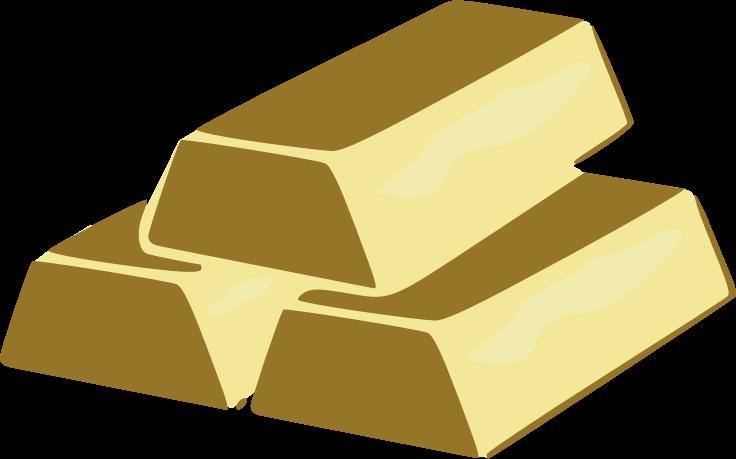 gold clipart gold brick