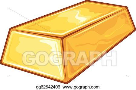 Gold clipart gold bullion. Vector illustration