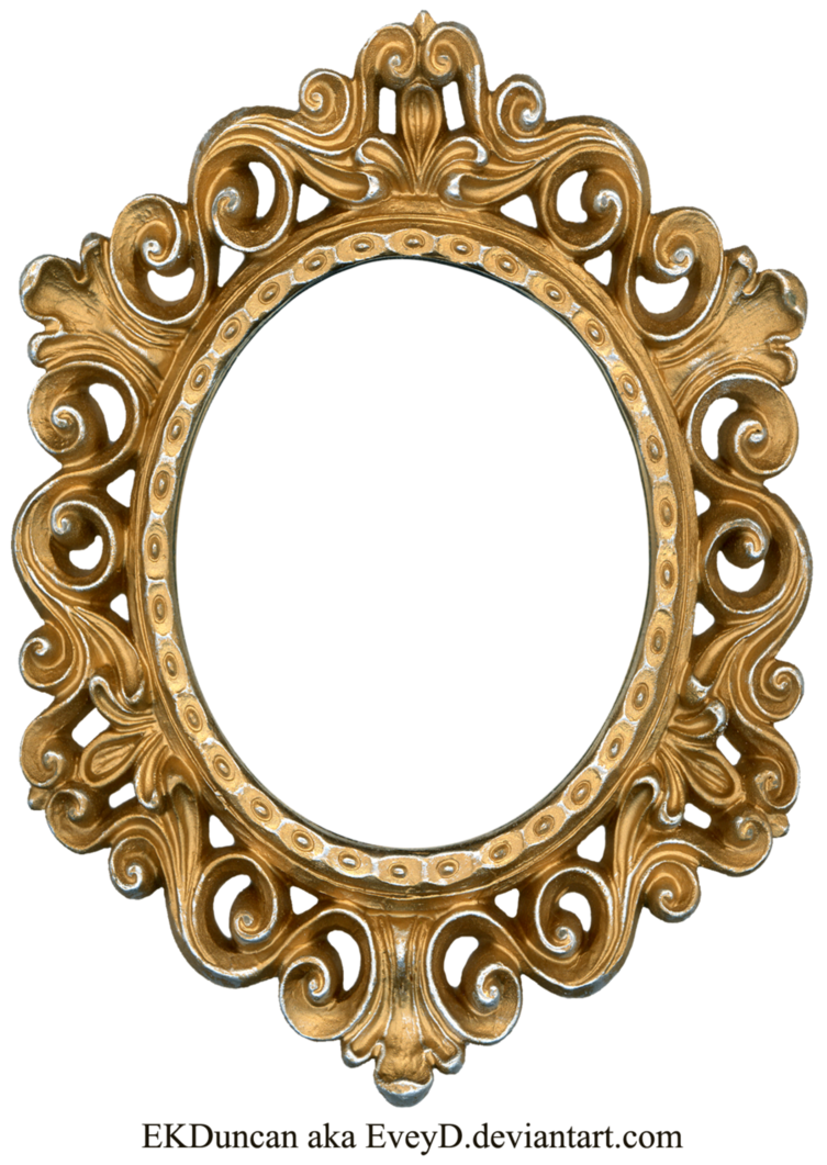 Oval clipart round mat. Vintage gold and silver