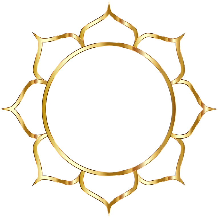 Lotus flower art no. Gold clipart line