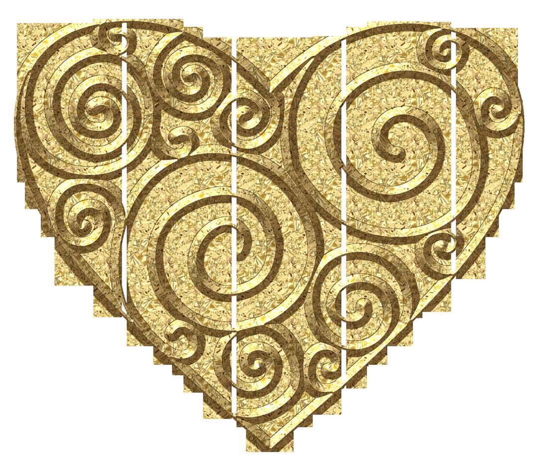 Heart diy ideas pinterest. Gold clipart line