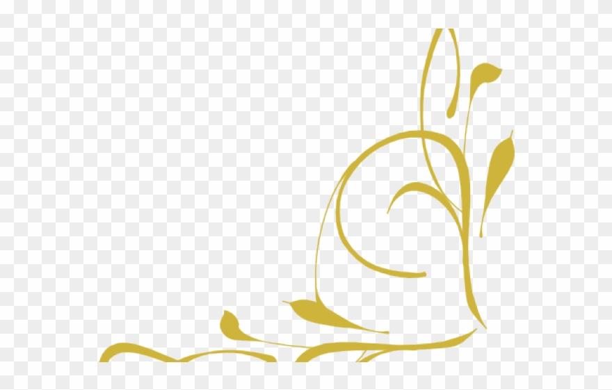 Gold clipart line art. Design brown scroll clip