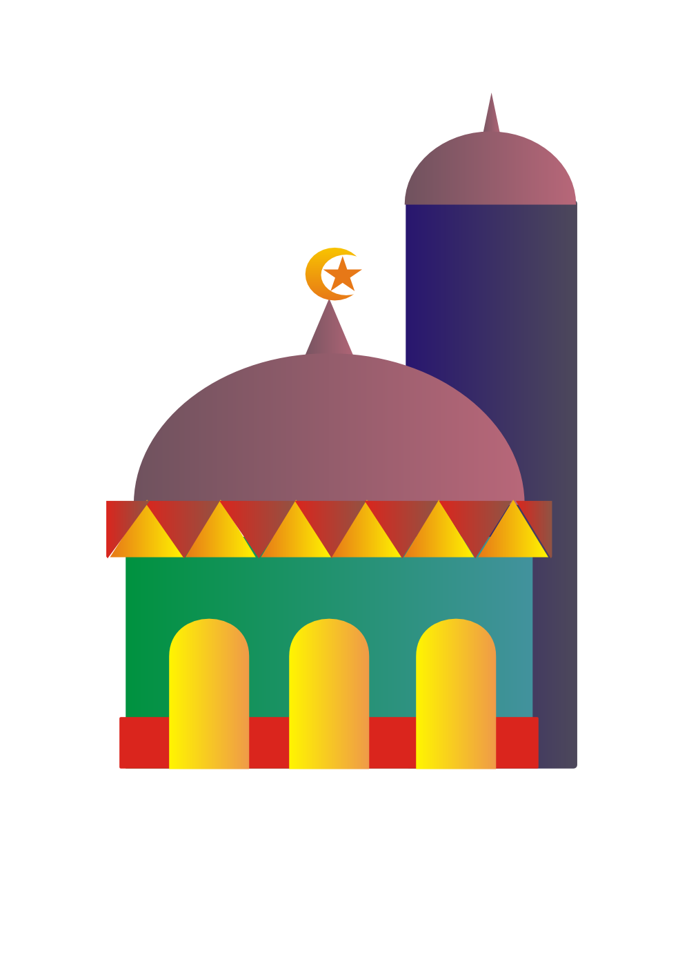 mosque clipart map