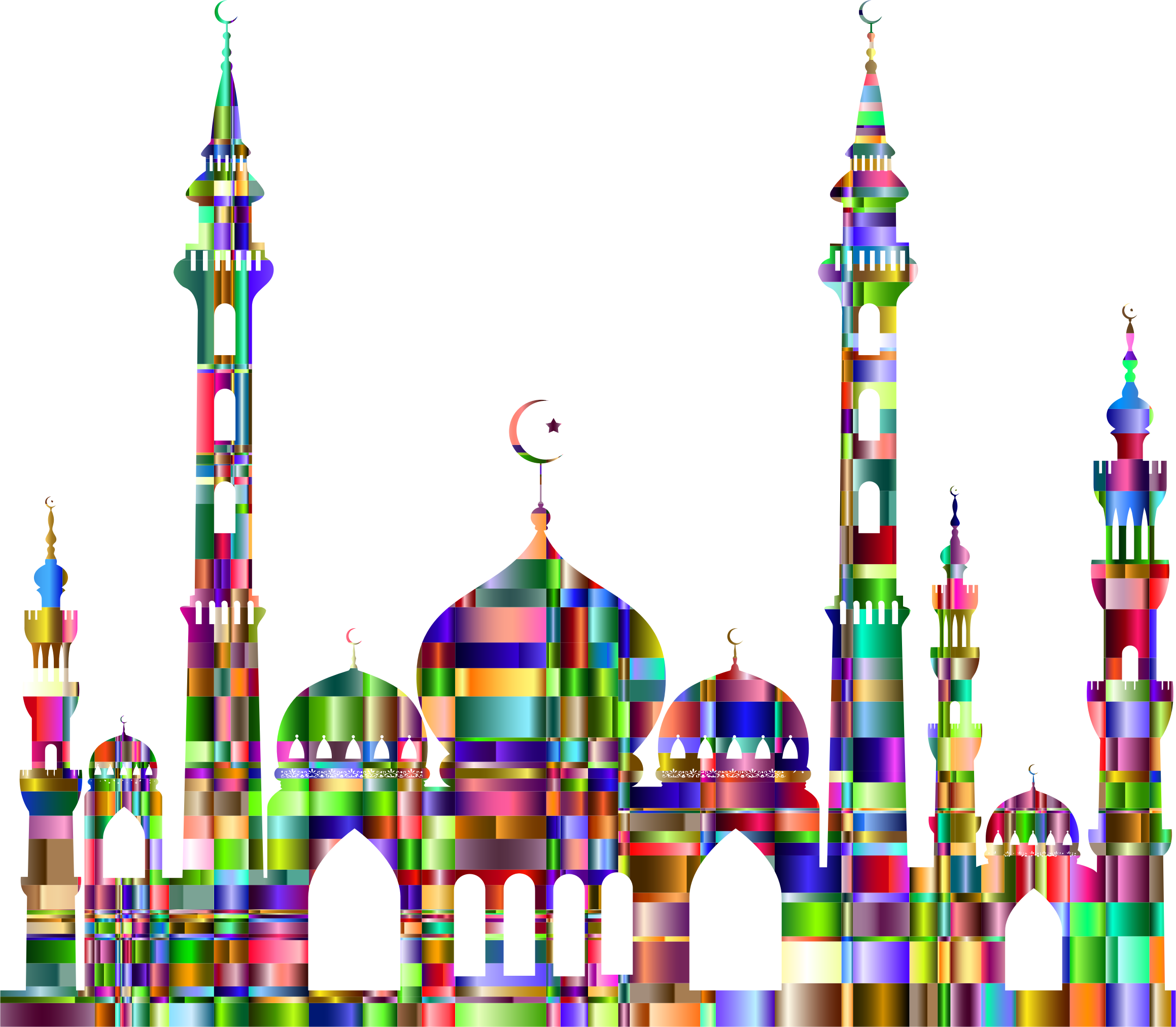 Mosque clipart mosk. Checkered chromatic icons png