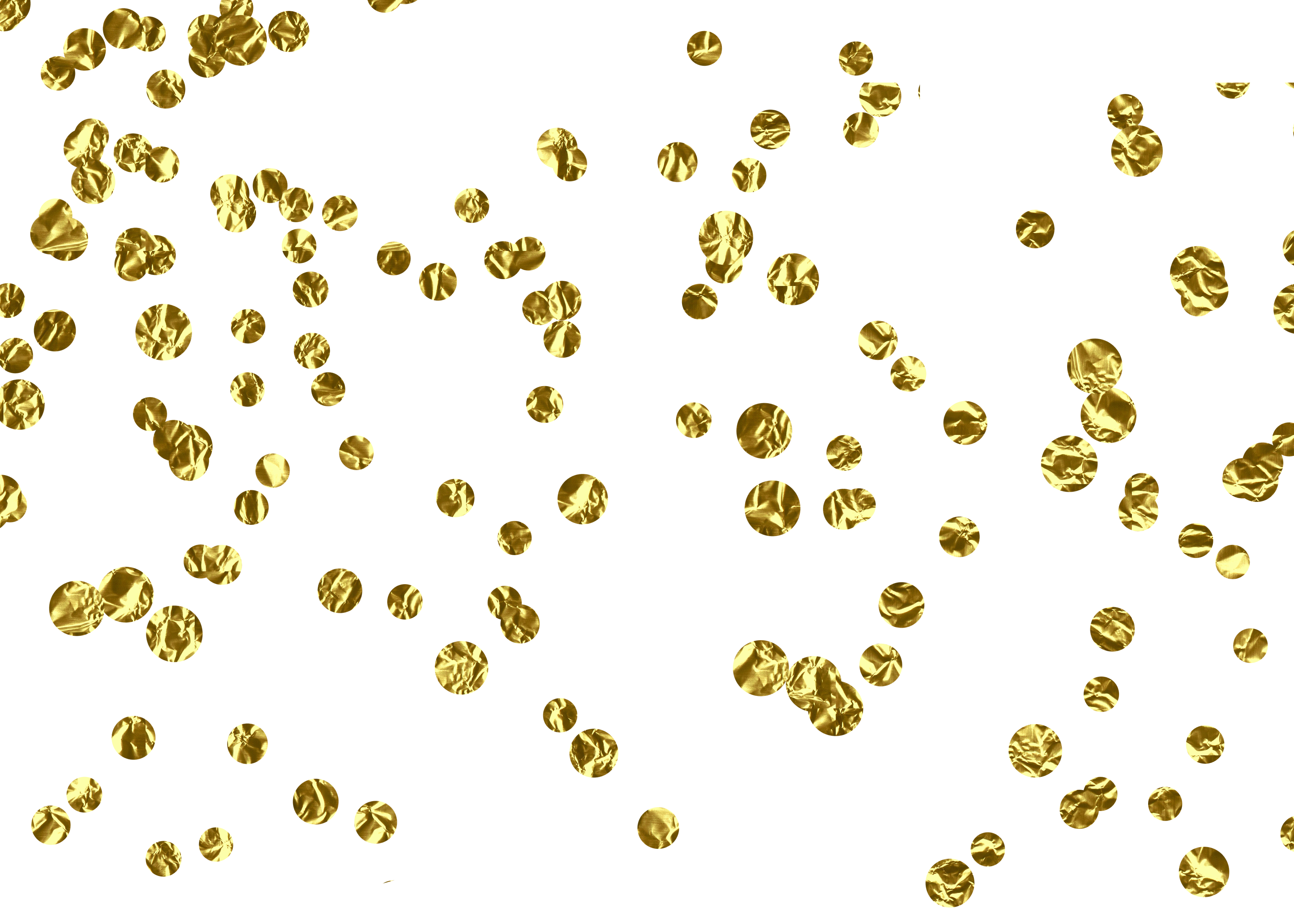Gold confetti border png.  for free download