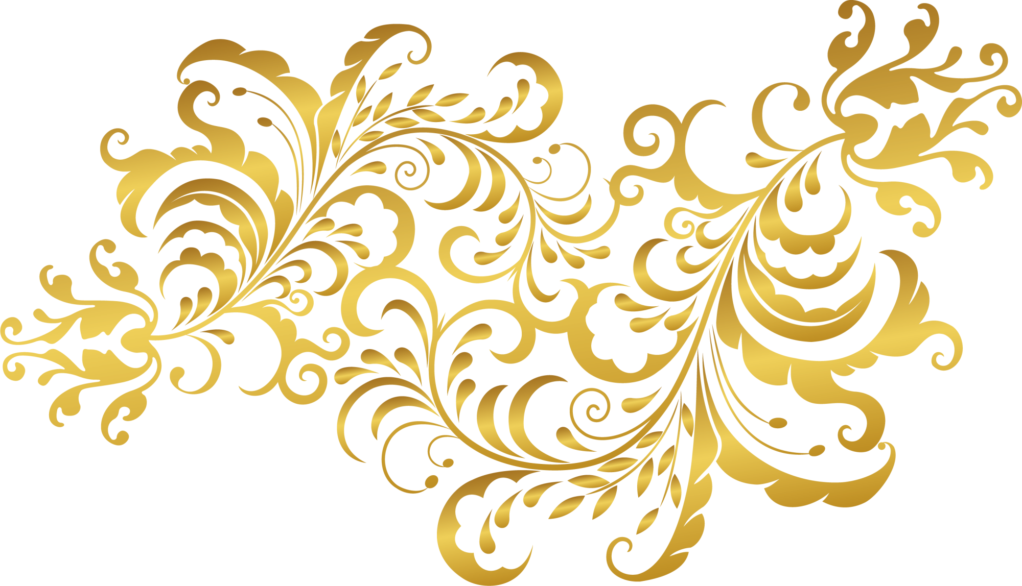 Golden plants transprent free. Gold flower png