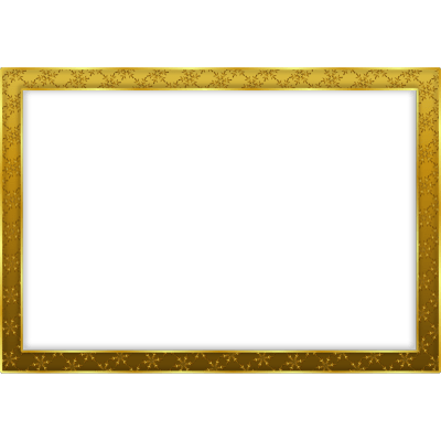 Gold frame png. Simple landscape transparent stickpng