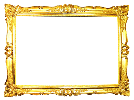 Gold frame png. Ornate transparent stickpng