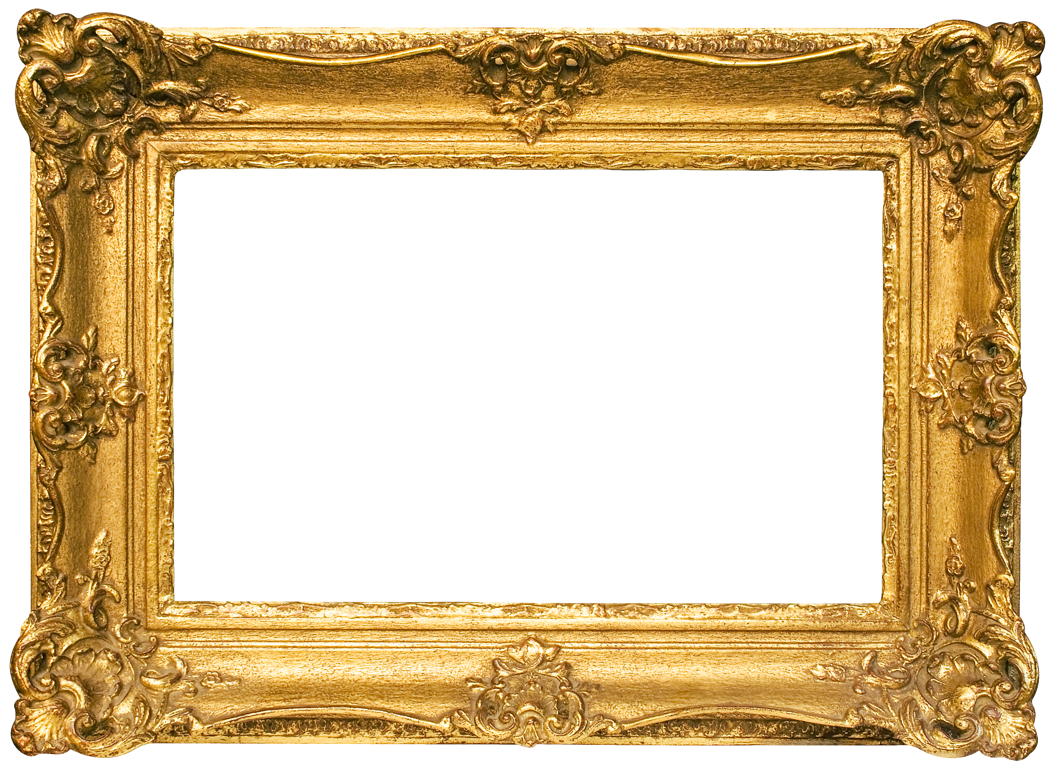 Gold frame png. Classic transparent image gallery