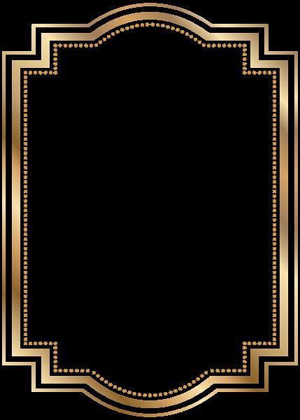 Border transparent clip art. Gold glitter frame png