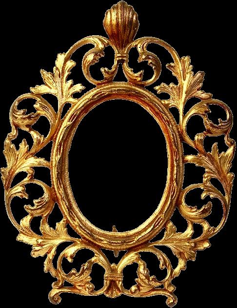 Picture frames transprent free. Gold oval frame png