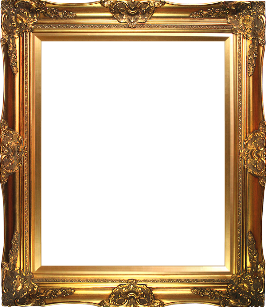 Victorian x canvas art. Gold picture frame png