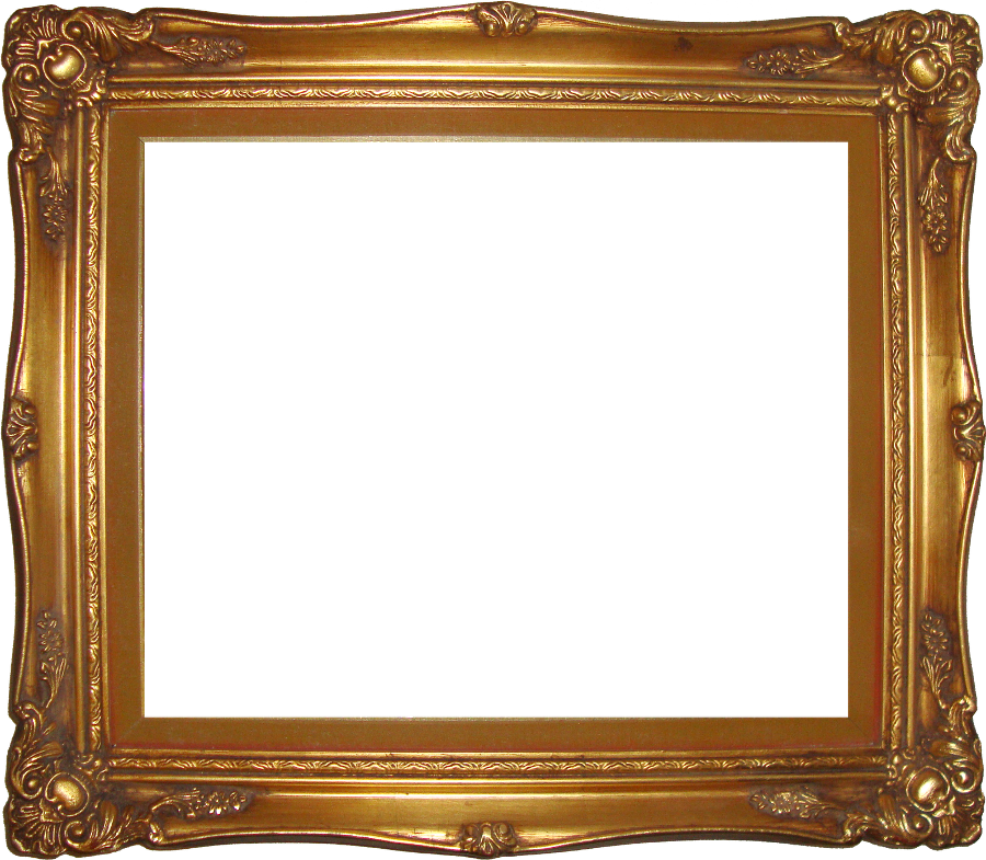 Gold picture frame png. Transparent images all pic