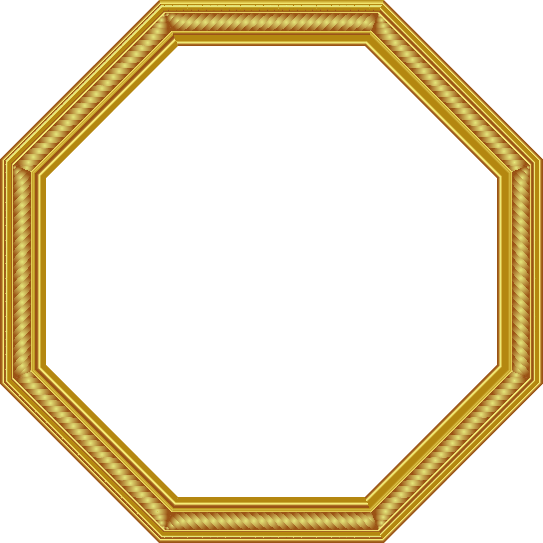 Golden frame png. Transparent gold photo gallery