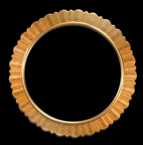 Antique gold photo image. Golden frame png