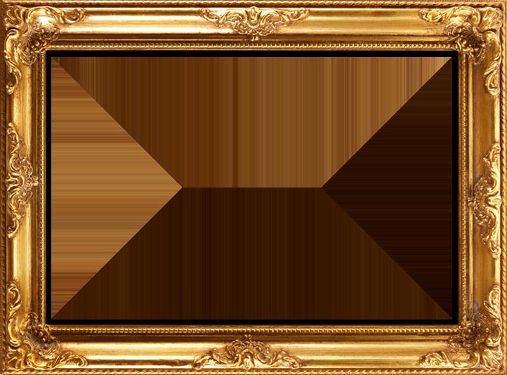 Photo arts. Golden frame png