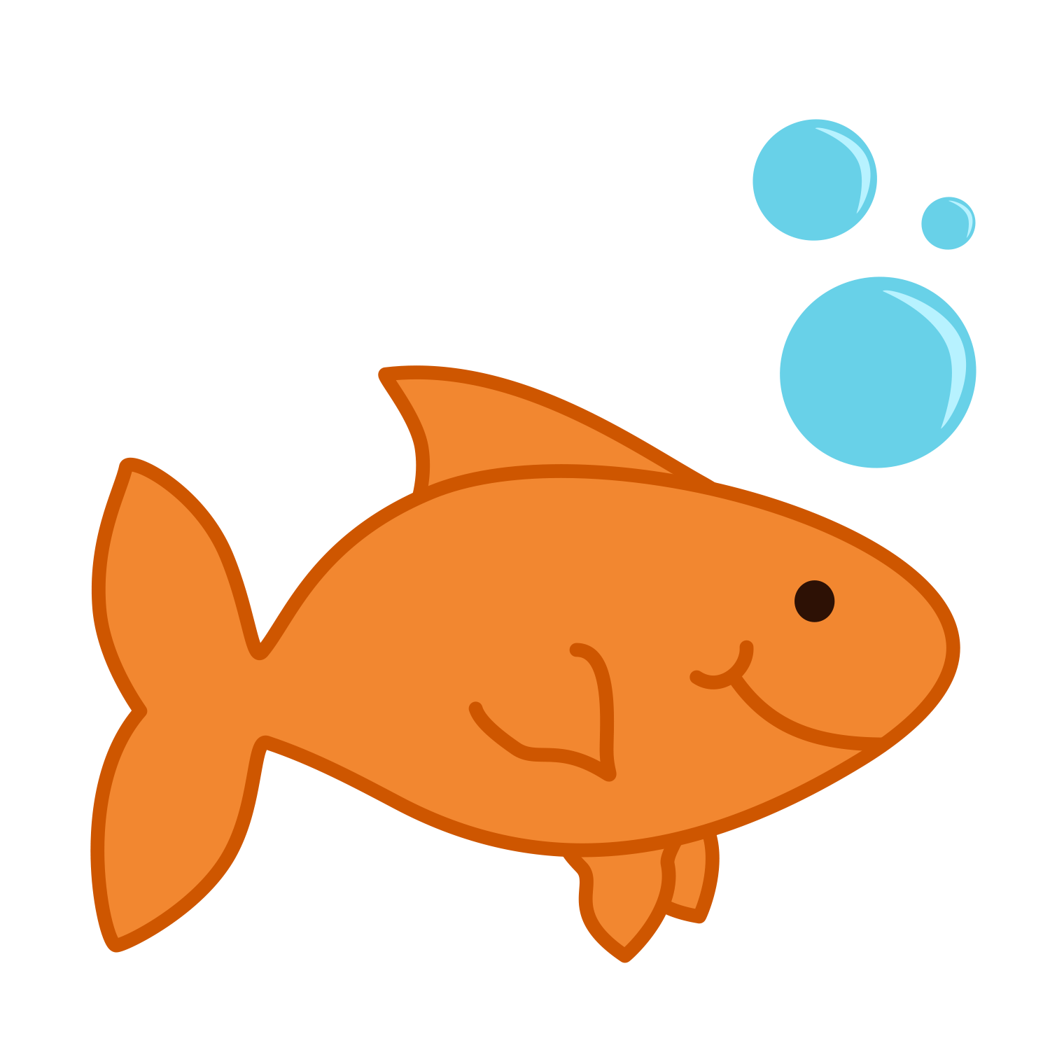 Image result for goldfish. Dory clipart colour