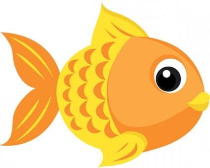 Goldfish clipart. Orange